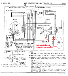 library 302 telephone wiring schematic